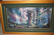 """Untitled Wooded Scene"" Framed Cibachrome by James Coleman"