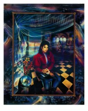 """The Book"" Michael Jackson Trial Proof Serigraph by Brett Livingstone Strong"