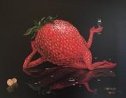 """Sexy Strawberry"" giclee by Michael Godard"