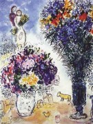 """""""Le Gerbe de Ble"""" Plate-Signed Lithograph by Marc Chagall"""