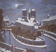 """""""Hour of the Wolf"""" Serigraph by Thomas McKnight"""