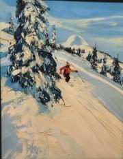 """The Aspen Ace"" Original Oil on Canvas by Paul Blaine Henrie"