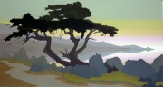 """""""Point Lobos II"""" Serigraph by Jerry Schurr"""