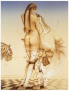 """""""Puppetmaster"""" Hand Pulled Stone Lithograph by Michael Parkes"""