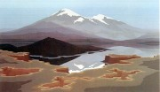 """""""Mount St. Helens"""" Serigraph by Jerry Schurr"""