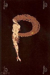 """""""The Letter P"""" from the Alphabet Suite, a Serigraph/Lithograph by Erte"""