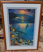 """""""Island Enchantment"""" Framed Mixed Media Graphic with Remarque by Christina Riese Lassen"""