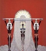 """""""The Egyptian"""" Embossed Serigraph with Foil Stamping by Erte"""