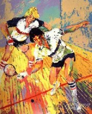 """""""Racquetball"""" Serigraph by LeRoy Neiman"""