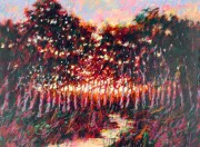 """""""Forest At Dusk"""" AP Serigraph by Aldo Luongo"""