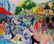 """Cafe Fouquets"" limited edition hand signed Serigraph by LeRoy Neiman Wanted"