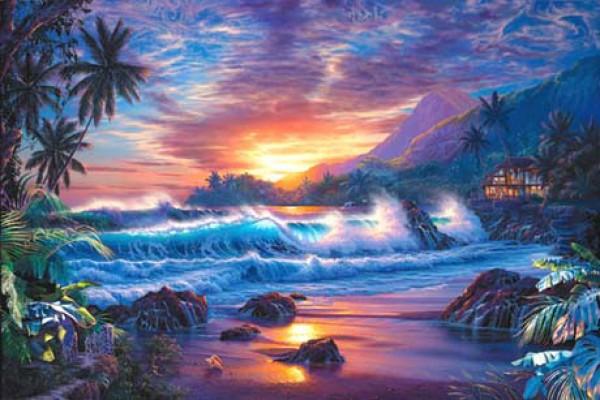 """Eternal Embrace"" Lassengraph on Canvas by Christian Riese Lassen"