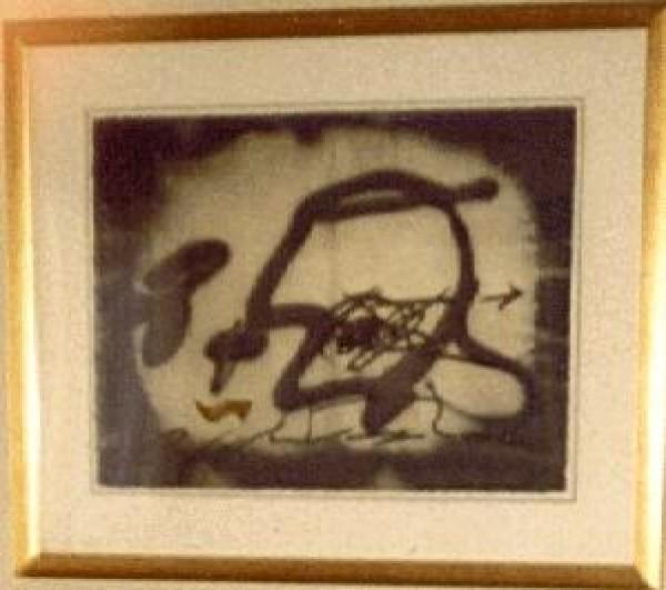 """Perfil"" Etching with Carborundum by Antoni Tapies"