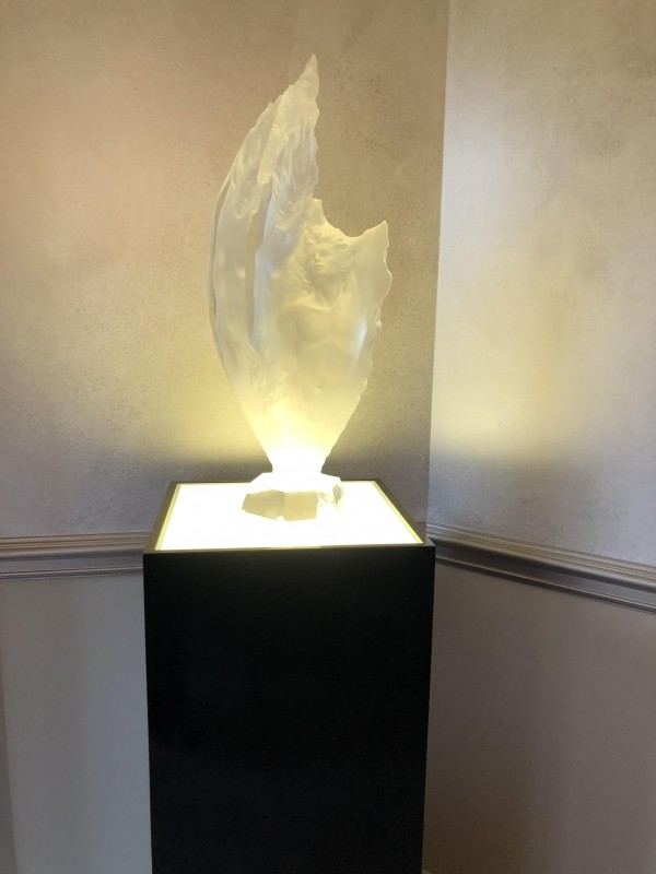 """Study of Prometheus"" Acrylic Sculpture by Michael Wilkinson"
