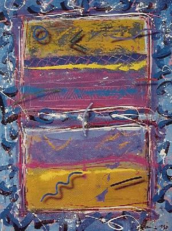 """Blues for Windows"" Serigraph by Mark Erickson"