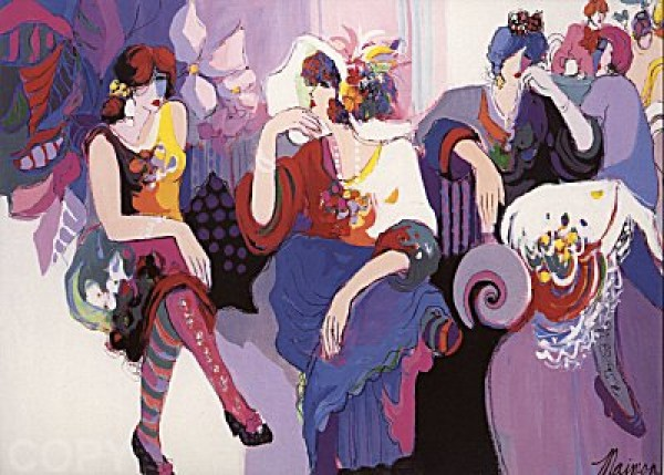 """""""At the Ball"""" Serigraph on Paper by Isaac Maimon"""