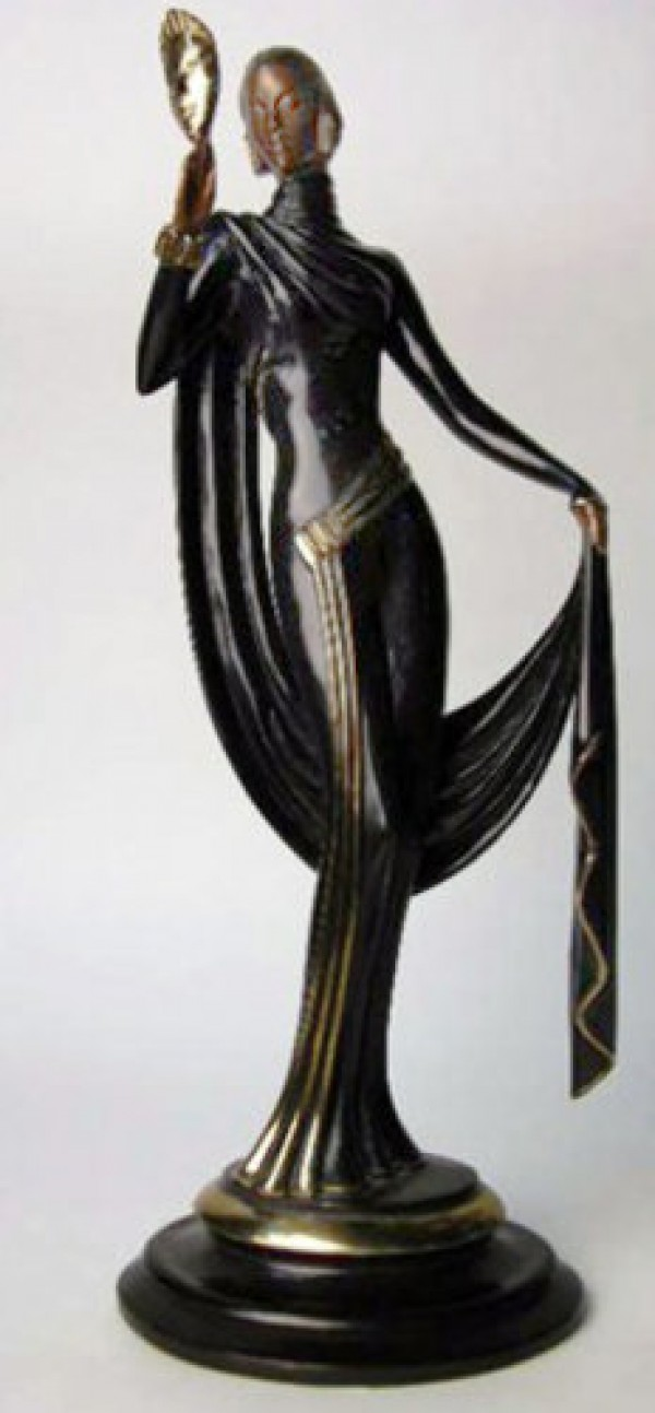 """Le Masque"" Bronze Sculpture by Erte"