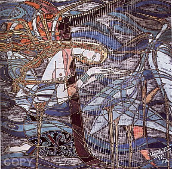 """""""Harmony"""" Serigraph by Ting, Shao Kuang"""