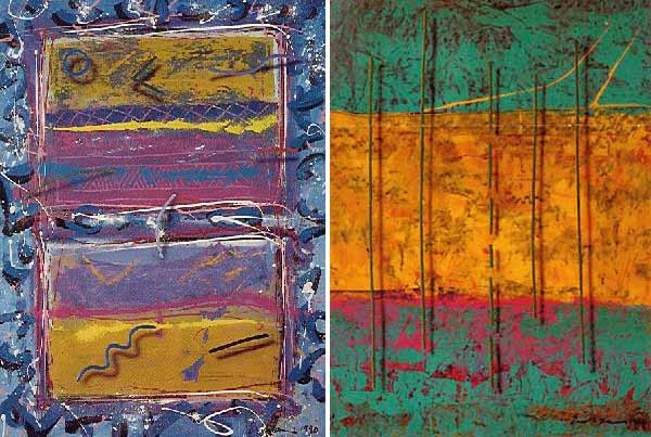 """Blues For Windows"" & ""Paladin"" 2 Serigraphs by Mark Erickson"