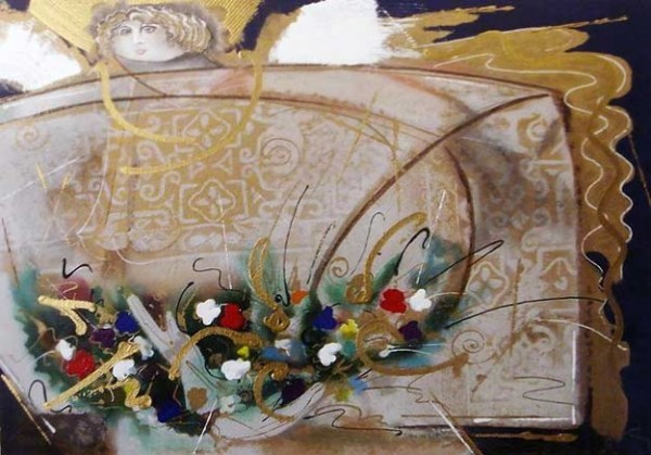 """""Un Angel Llamado Maria del Pilar "" Original Embellished Multiple Print by Orlando AB"