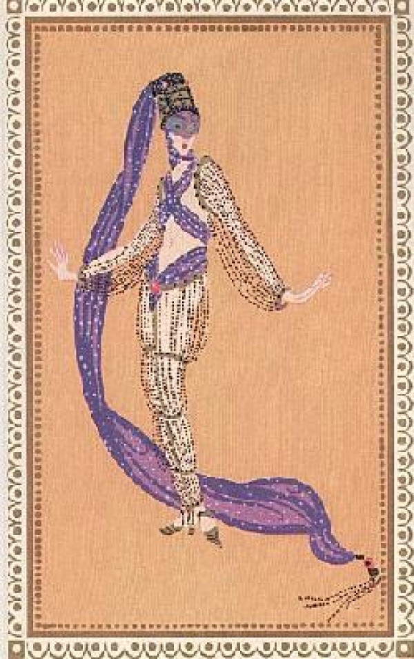 """""""A Thousand and Second Night"""" Lithograph by Erte Wanted by Diva Art Group"""