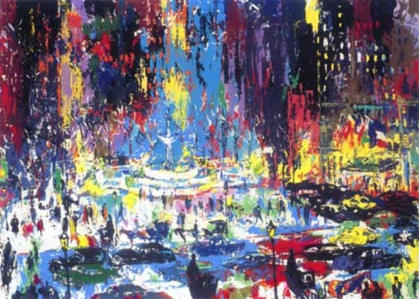 """""""Plaza Square"""" Serigraph by LeRoy Neiman"""