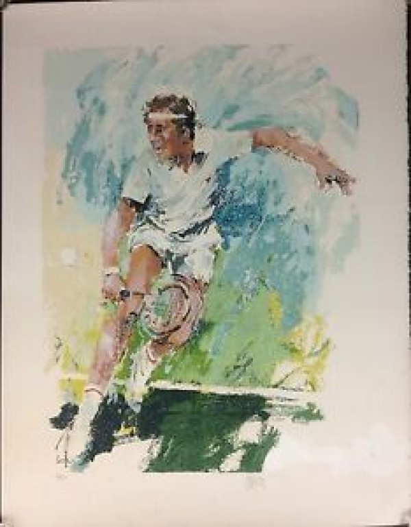 """""""Winning Volley"""" Serigraph by Wayland Moore"""