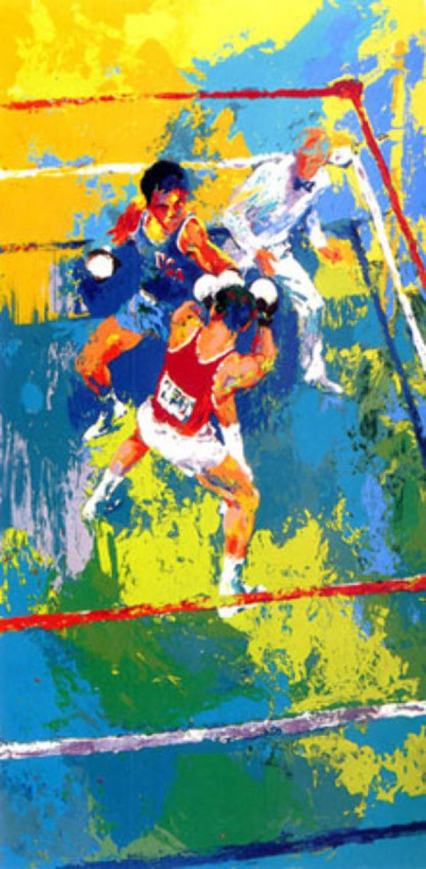 """""""Olympic Boxing"""" Serigraph by LeRoy Neiman"""