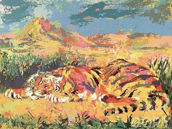 """Delacroix's Tiger"" Serigraph by LeRoy Neiman"