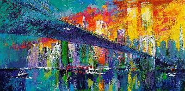 """Brooklyn Bridge"" Limited Edition Serigraph by LeRoy Neiman"